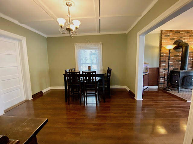 Formal Dining Room w coffered