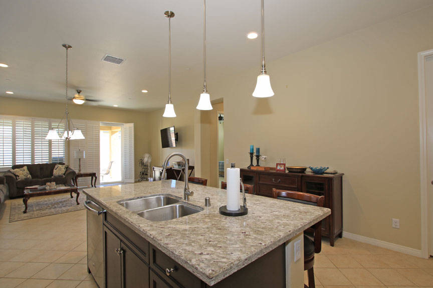 Kitchen to Dining and Family