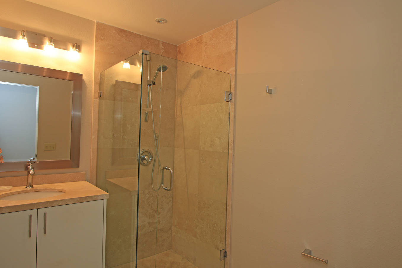 Downstairs Bath with Added Shower